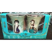 Disney Store Tazas (set Con 2) Aladin Y Jazmin