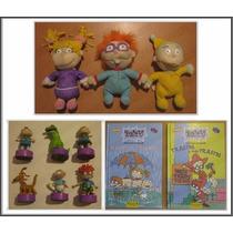 Rugrats Vintage * 3 Peluches´mattel 2 Libros 6 Sellos Usado