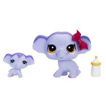 Littlest Pet Shop Mascotas Y Amigo - Elefante Y Bebé Elefant