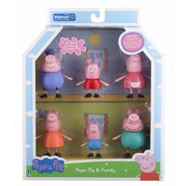 Peppa Pig Familia 6 Figuras Papa Mama Abuelo Abuela Y George