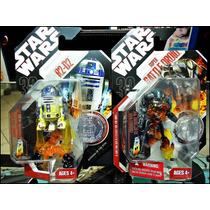 Star Wars,r2-d2 Y Batlle Droid,30 Aniversario,moneda,13 Cm.