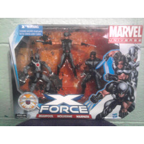 Marvel Unverse Pack Hasbro X Force Deadpool Warpath Wolverin