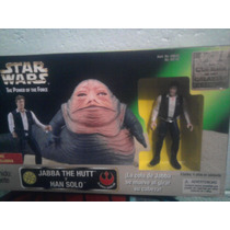 Star Wars Han Solo Y Jabba Power Of The Force Kenner Vintage