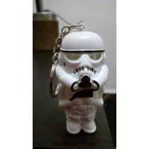 Llavero Mini Stormtrooper Luz Led Sonido- Yoda Vader Tambien