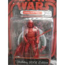 Star Wars Figura Darth Vader Edicion Navideña Roja 2005