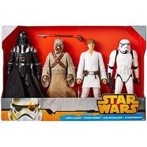 Figuras De Star Wars, Darth Vader/tusken Raider/luke Skywalk