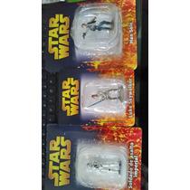 3 Figuras De Star Wars De Plomo Pintadas A Mano