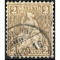 0055 Suiza Mujer Escudo Scott#52 0.2 F Usado N H 1867-68