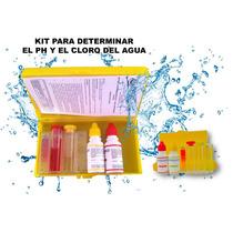 Kit Test Determina Ph Y Cloro Agua Alcalina Albercas Peceras