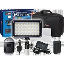 Vidpro Kit De Lámpara 144 Leds Bateria Recargable Y Estuche