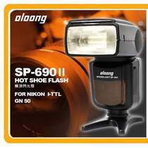 Flash Oloong Sp-690 2 Auto Zoom Speedlite I-ttl Nikon Hm4