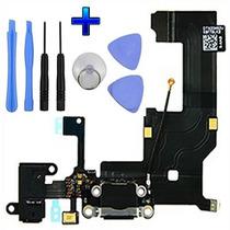 Flex Centro De Carga Original Jack Audio Micrófono Iphone 5