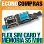 Flex De Sim Card Y Memoria Para Galaxy S5 Mini 100% Nuevo!!!