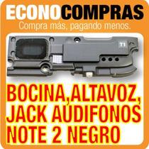 Bocina Negra Jack Audífonos Y Altavoz Galaxy Note 2 Nuevo!!