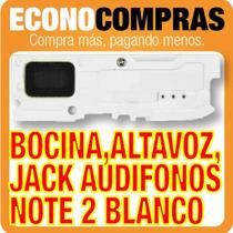 Bocina Blanca Jack Audífonos Y Altavoz Galaxy Note 2 Nuevo!!
