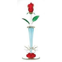 Regalos Y Decoración Spun Glass Rosebud Decorativo Jarrón De