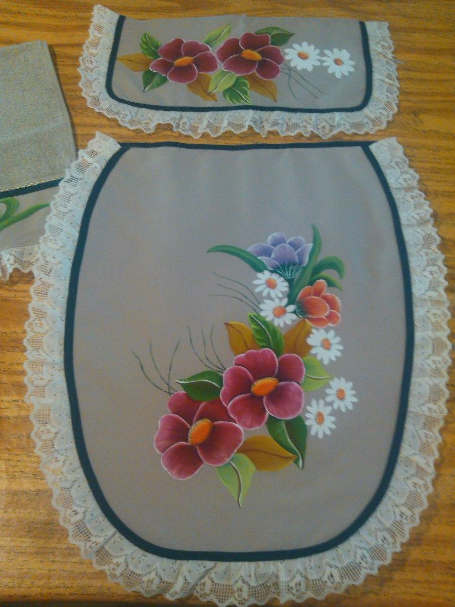 Baño Pintado De Amarillo:Flores Hermosos Juegos De Baño Pintados A Mano – $ 35000 en