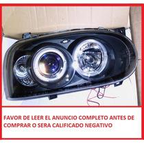 Faros Golf A3 Lupas Angel Eyes Deportivos Tuning Sport