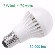 Foco Led 7 Watts = 70 Watts Incandescente Luz Blanca Nuevo