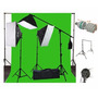 Set Pantalla Verde Ephoto 10 X 20 Muslin Chromakey Green.