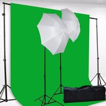 Pantalla Verde Chromakey Green Screen Kit 400w Photo Video