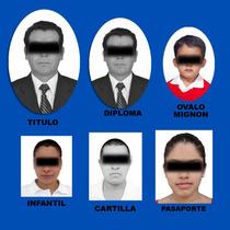 Foto Infantil, Ovalo Diploma Pasaporte Cartilla Envio Gratis