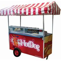 Carrito De Hot Dogs De 170 Con Freidora Marca Badisa
