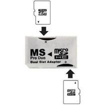 Adaptador Duo Shop Óptima Dual Slot Blanca Psp Memory Stick