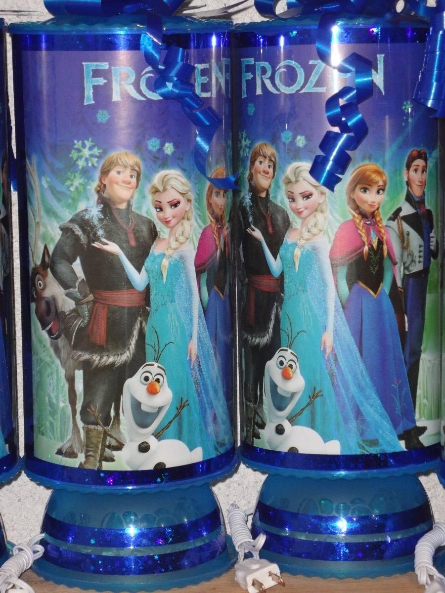 Frozen recuerdos centros de mesa lamparas frozen car for Centros de mesa de frozen