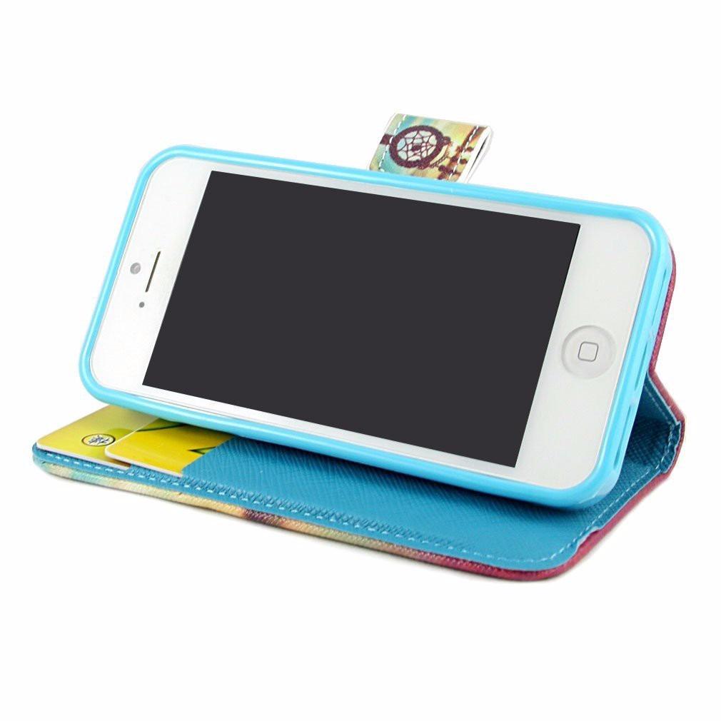 Funda tipo cartera para apple iphone 5 5s en mercadolibre - Funda de piel para iphone 5 ...