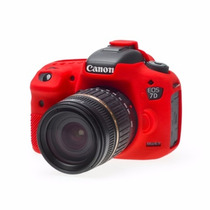 Canon Eos 7d Funda De Silicon Color Rojo
