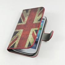Funda Piel Galaxy S3, Bandera Reino Unido, Uk + Regalos