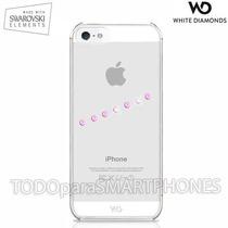 Funda White Diamonds Iphone Se/5s/5 Sash Ice Rosa Transp Msi