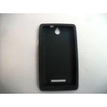 Protector Silicon Case Sony Xperia E C1505 Color Negro!