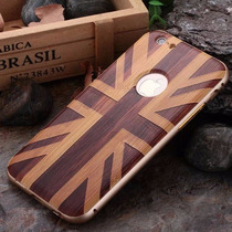 Bumper Case Apple Iphone 6 6s Y Plus Aluminio Tipo Madera
