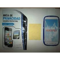 Kit 3x1 Tpu+ Mica Privacidad+ Paño Samsung Galaxy S3 I9300!