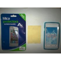 Kit 3x1 Tpu+ Mica Matte+ Paño Sony C1505 Xperia E!