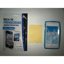 Kit 3x1 Tpu+ Mica Privacidad+ Paño Sony C1505 Xperia E!