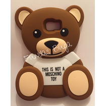 Funda S6 Edge Plus Oso Tedy Toy Moschino Protector Silicon