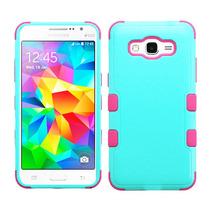 Funda Doble Uso Rudo Samsung Galaxy Grand Prime G530 Menta