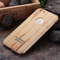 Bumper Aluminio Case Apple Iphone 6 6s Y Plus Tipo Madera