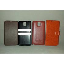 Paquete De Fundas De Piel Para Samsung Galaxy Note 3 Cartera
