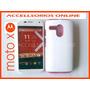 Funda Protector Silicon + Tpu 2 En 1 Moto X Blanco Rosa Vbf