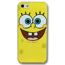 Funda Bob Esponja Case Transparente Crystal Iphone 5 5s