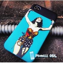 Mujer Maravilla Case Iphone 4,4s, 5, 5s 5c 6 6plus S3 S4 S5