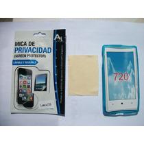 Kit 3x1 Tpu+ Mica Privacidad+ Paño Nokia 720 Lumia!!!