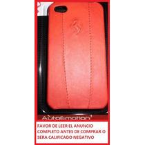Funda De Piel Ferrari Original Para Iphone 4