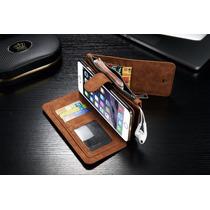 Cartera Piel Genuina Iphone 6s Plus Celular Funda Billetera