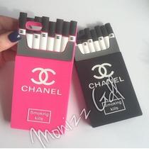 Funda 3d Tipo Cigarrera Fucsia Con Negro Para Iphone 6 Plus