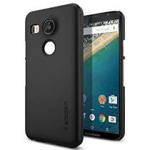 Nexus 5x Caso, Spigen [thin Fit] Exact-fit [negro] Prima Fin